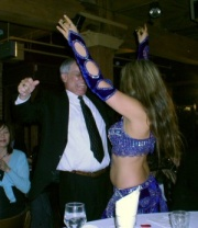 Paul Raptis (our section manager) with the belly dancer :D